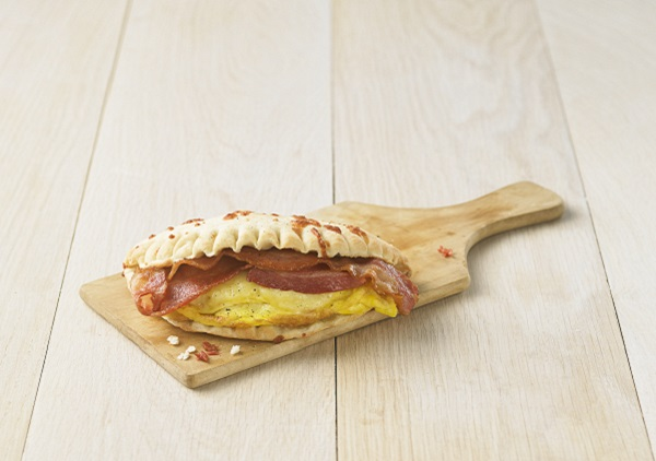 Calzone omelet bacon